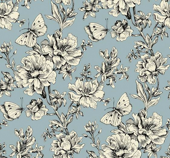 duck egg butterfly pattern print
