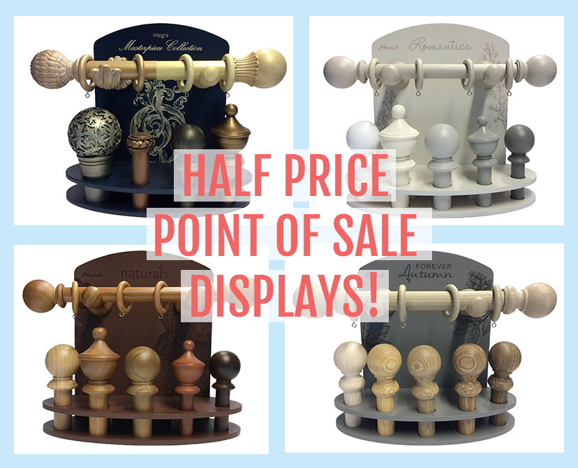 Half price point of sale displays available now