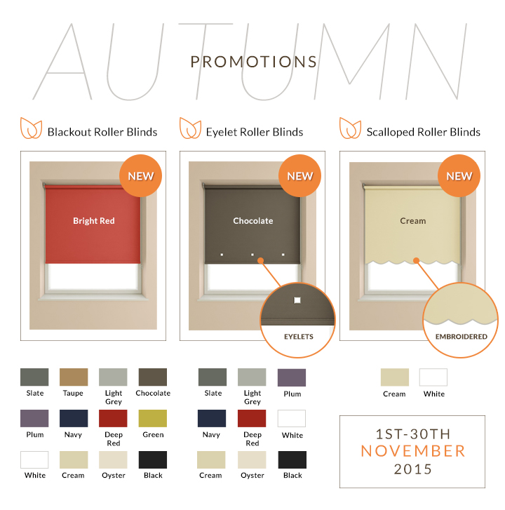 Autumn Offers Roller Blinds