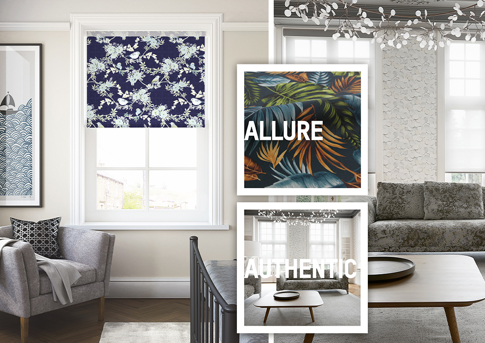 hand uses remote to operate motorised blinds