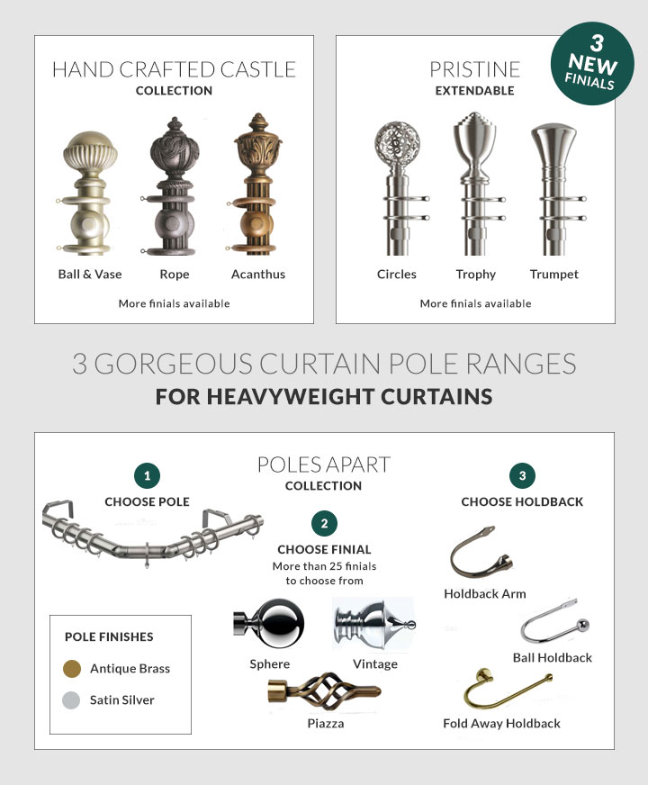 Heavyweight Curtain Poles