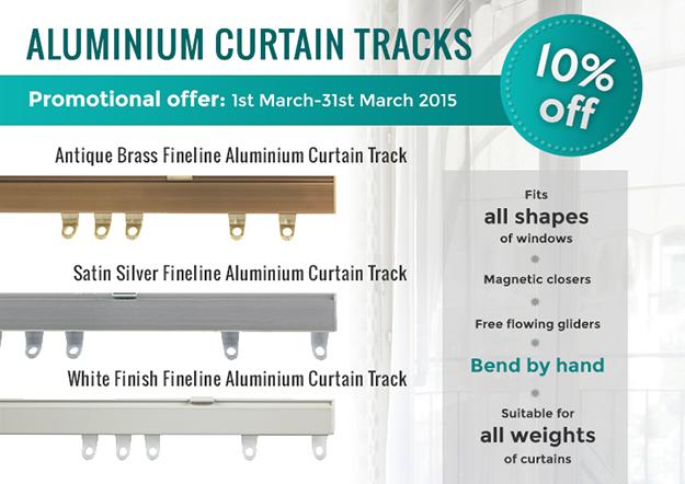 Fineline Aluminium Curtain Tracks