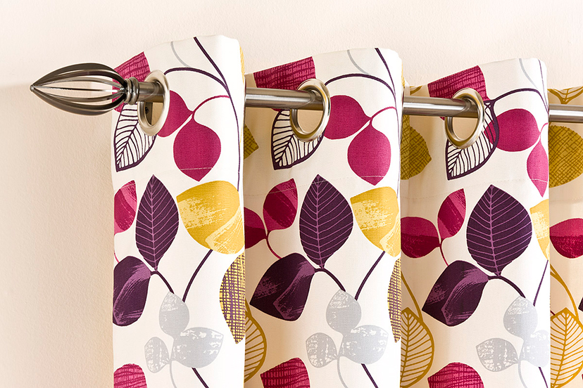 Messina cotton print curtains