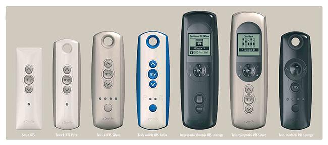 Remote controls for Somfy motorised blinds