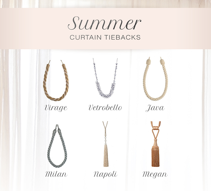 summer curtain tiebacks