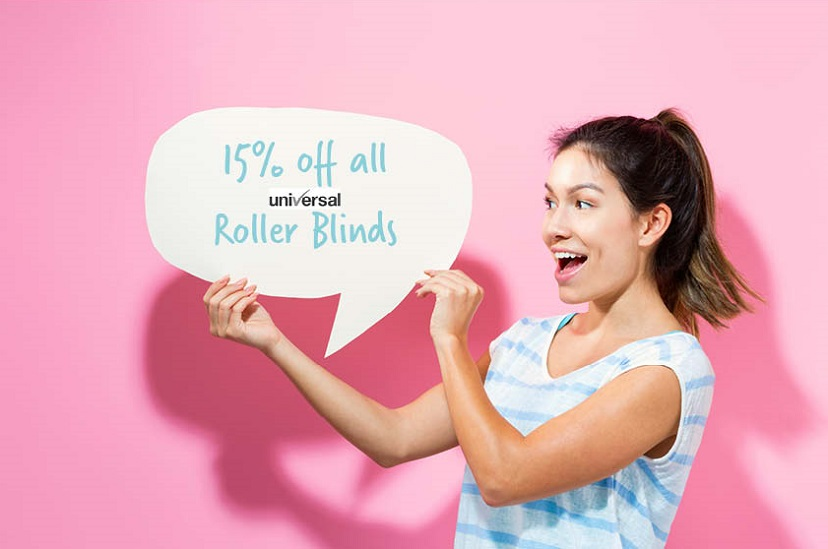 15% discount on roller blinds
