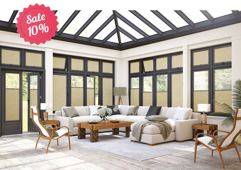 Conservatory with perfect fit blinds
