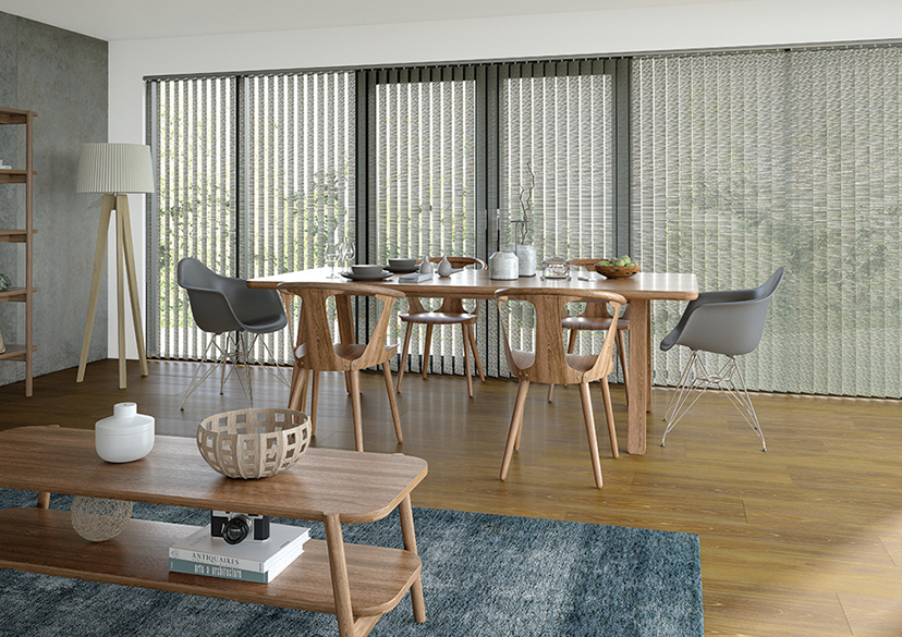 Big savings on made to measure vertical blinds like this monterey shale design