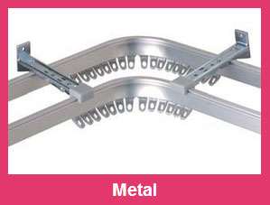 Heavy duty metal curtain tracks