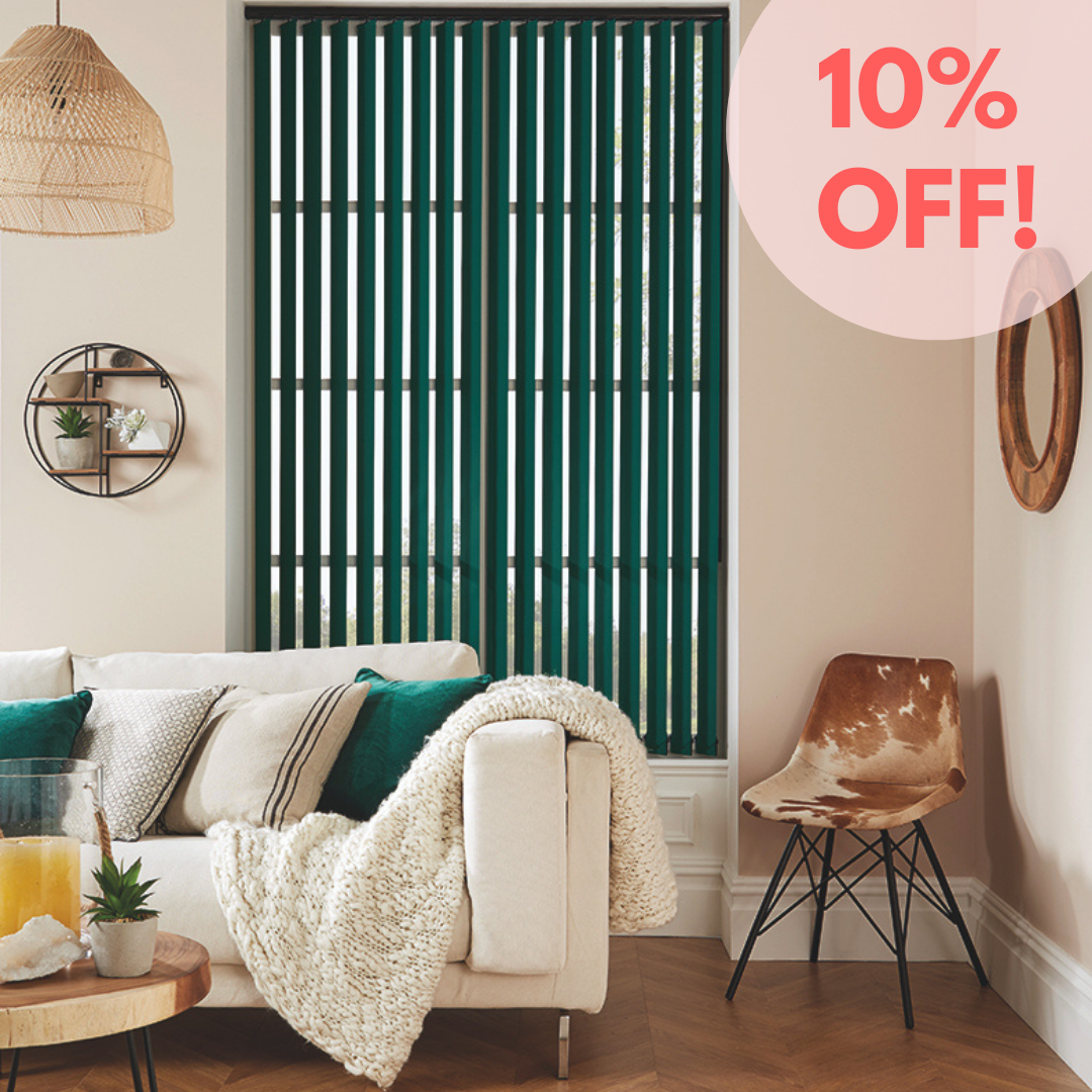 Savings on vertical blinds from Loveless Cook Blinds