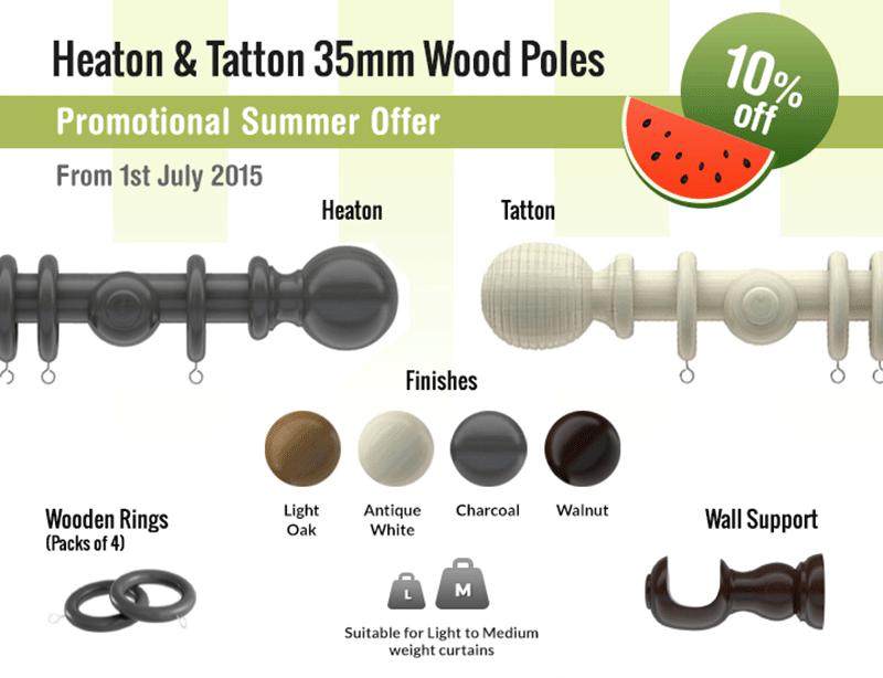 Heaton and Tatton 35mm Wood Poles