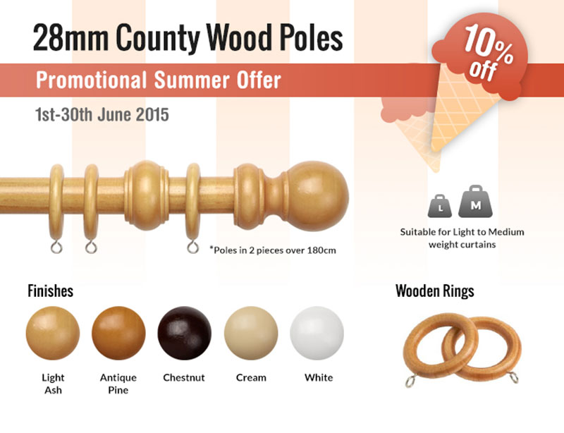 28mm County Wood Poles