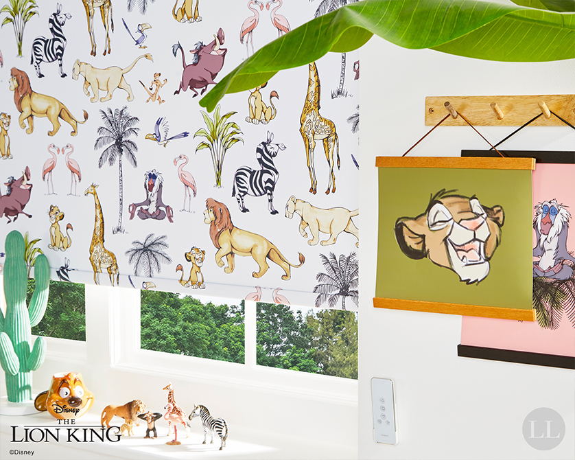 Lion King Blinds by Louvolite available at Loveless Cook Blinds