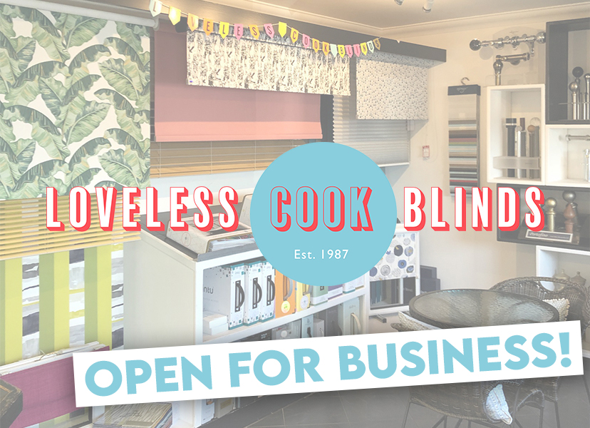 Loveless Cook Blinds Norwich Open Again for Business