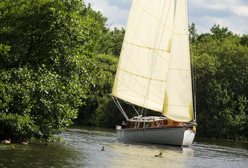 Sailing boat on the Norfolk Broads
