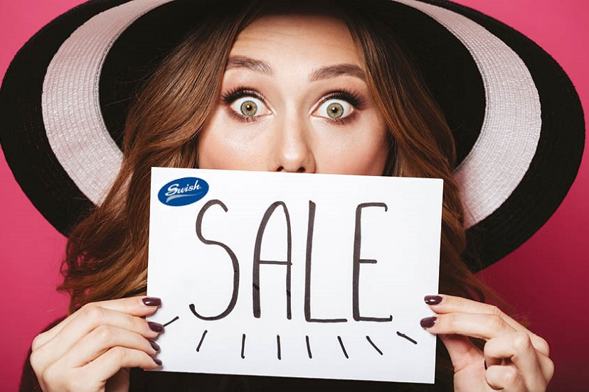 Sale lady with hat