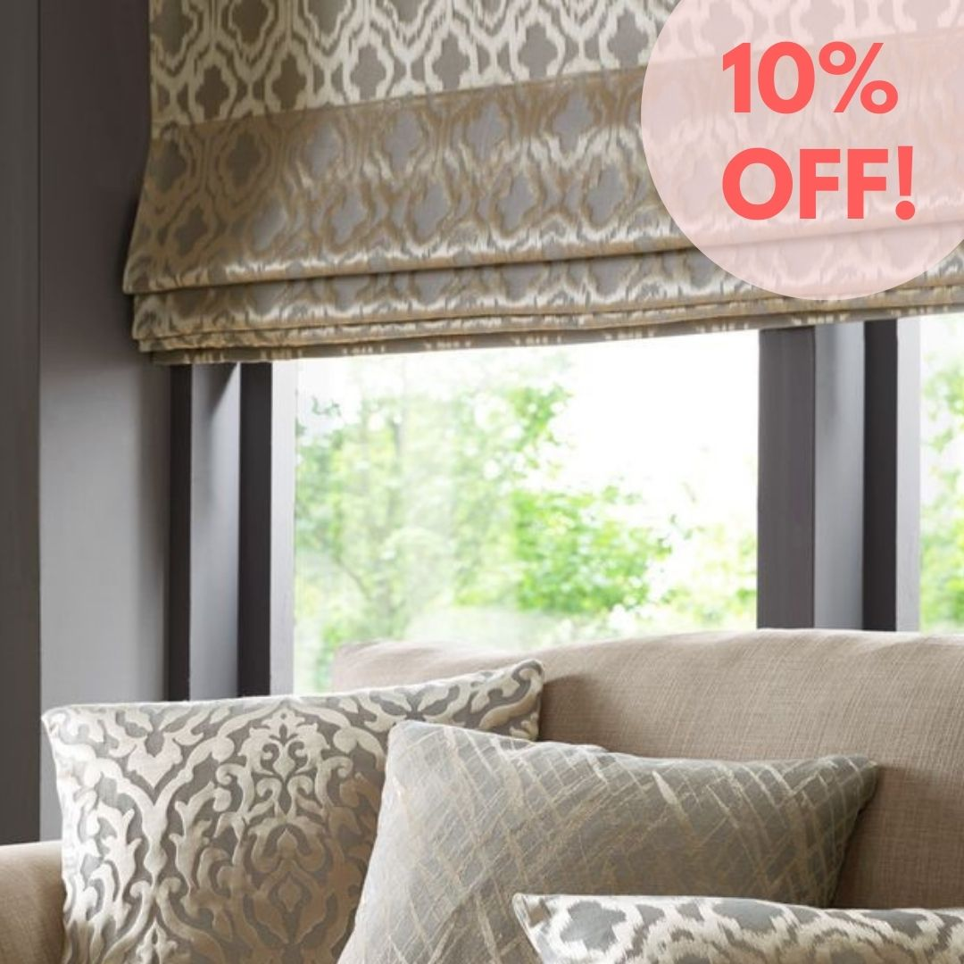 Save on made to measure roman blinds and curtains