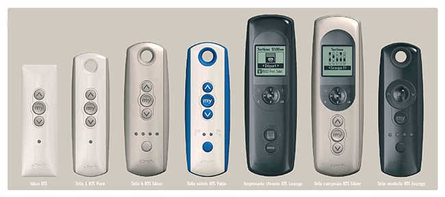 Remote controls for Somfy motorised blinds