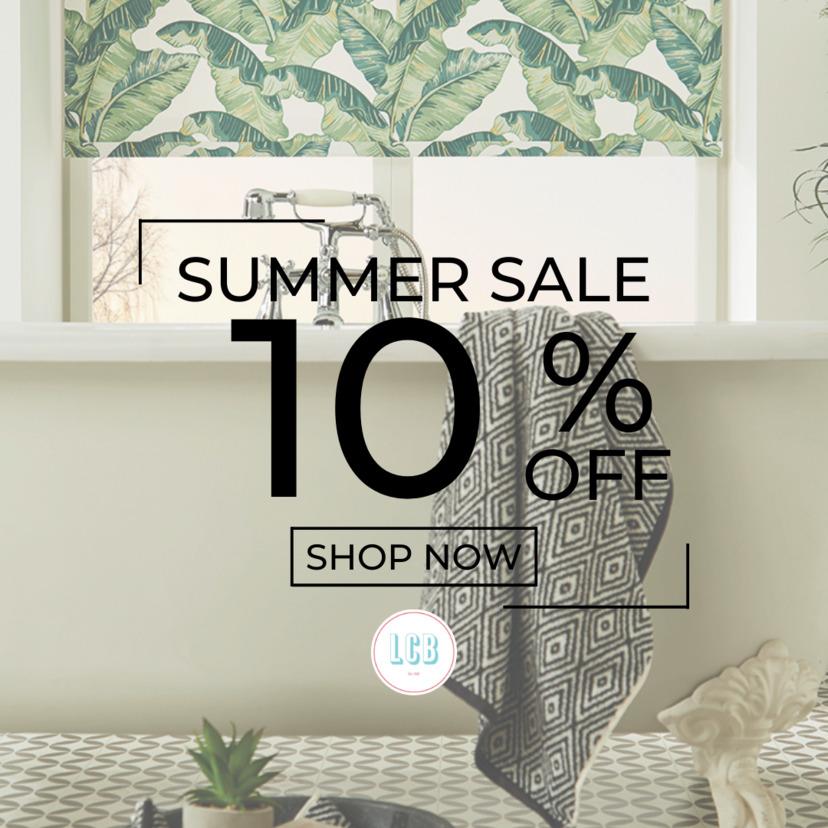 ten percent sale on blinds