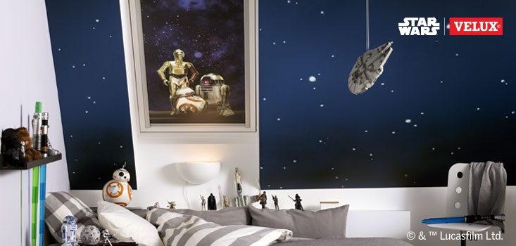Star Wars Velux blind