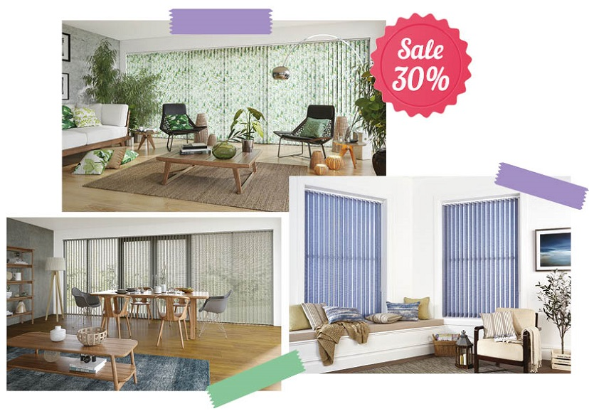 Vertical blinds january promotion
